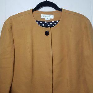 Dior Jackets & Coats - Christian Dior hidden button front blazer size 10